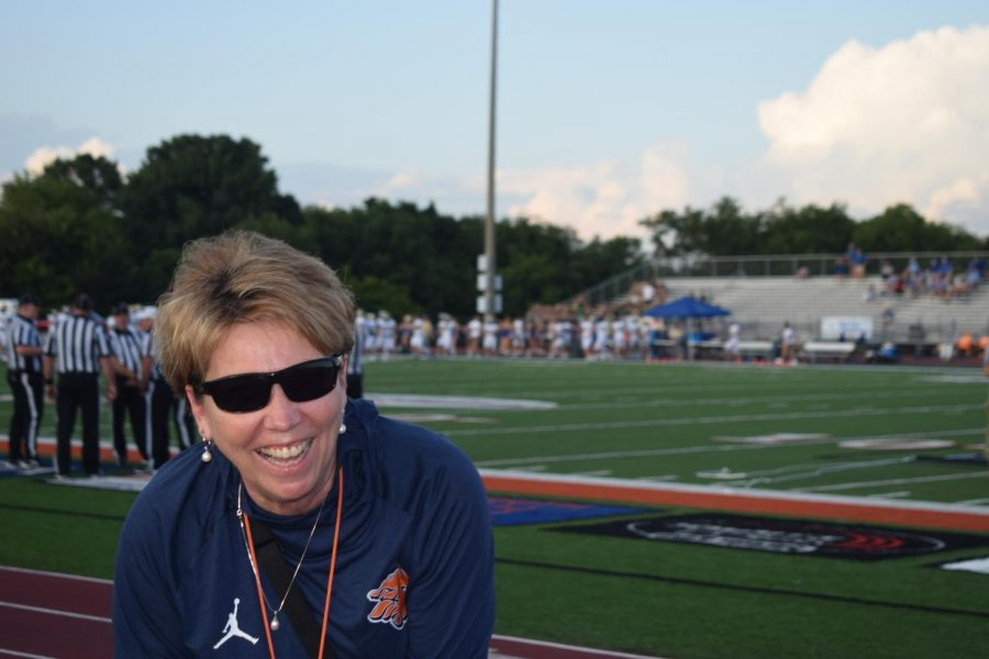 Dr. Justus before the first home football game against Brentwood.