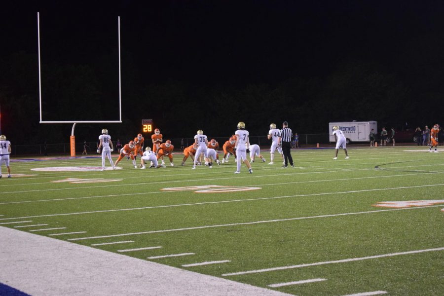 Brentwood and the Blackman Blaze football teams getting in position to score.