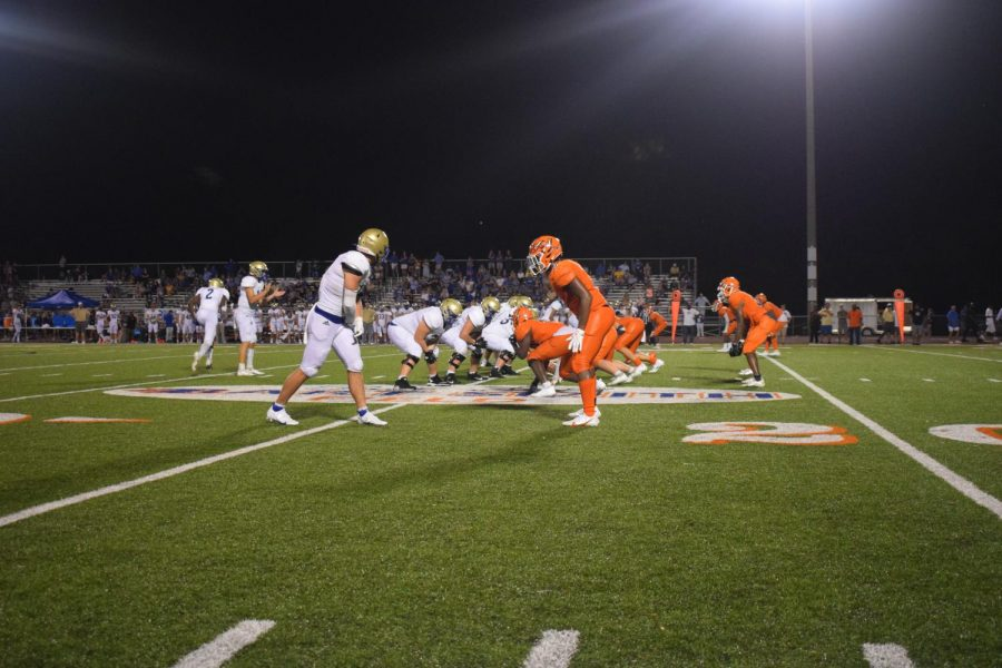 Brentwood and the Blaze in position to score.