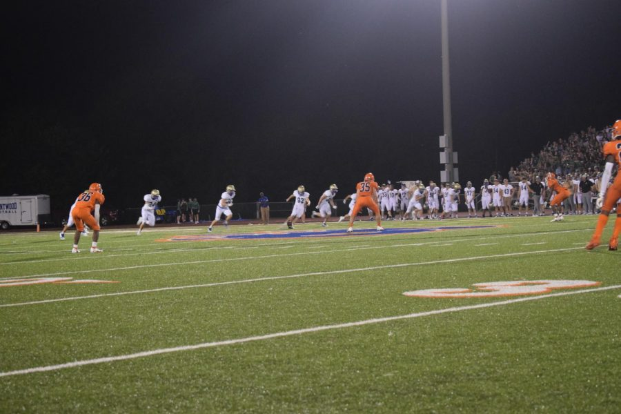 Picture taken right before the Brentwood kickoff for fourth quarter.