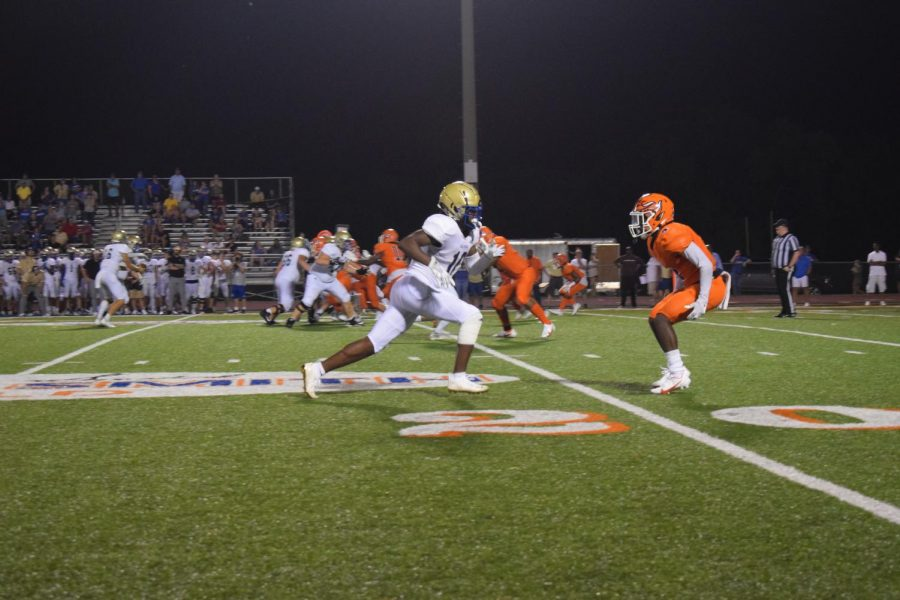 The Blackman Blaze and Brentwood during the fourth quarter of the first home football game.
