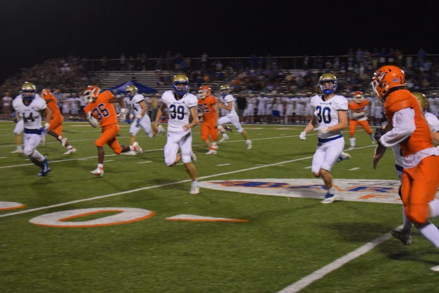 Picture taken during fourth quarter of the first Friday night game.