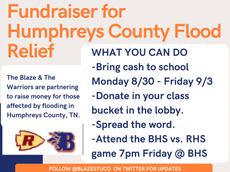 Blackman High School and Riverdale High School are having a fundraiser to raise money for Humphreys County.