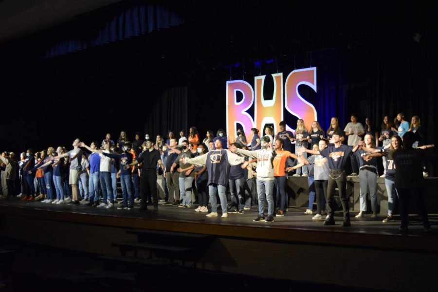 All Blackman High School choirs perform Sing a Song to open the 2021 Variety Show.
