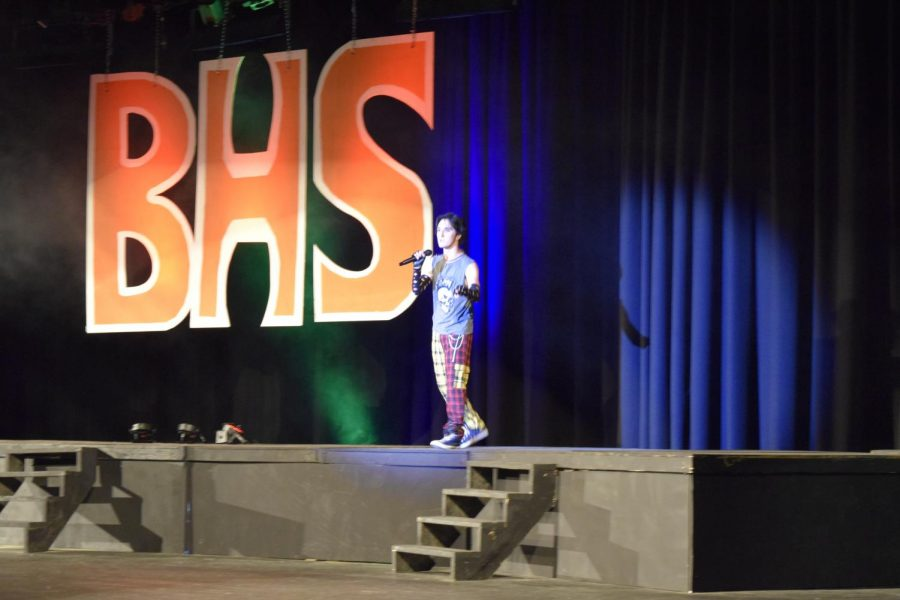 Jarrett Royer performs Mr. Brightside at the 2021 Variety Show.