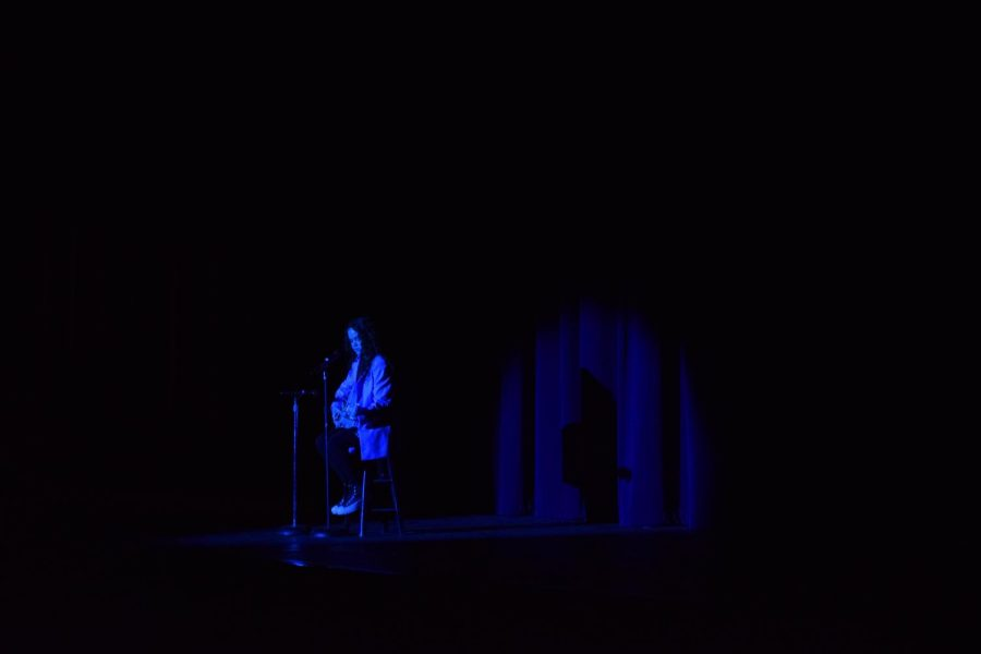 Ava Porter performs an original song at the 2021 Variety Show.