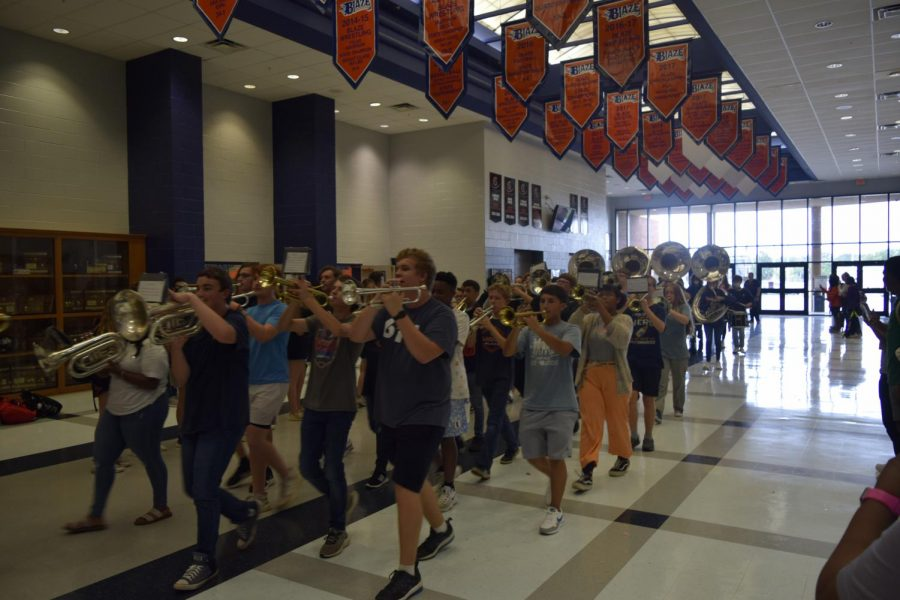 Band is a part of the 2021 Pep Rally.