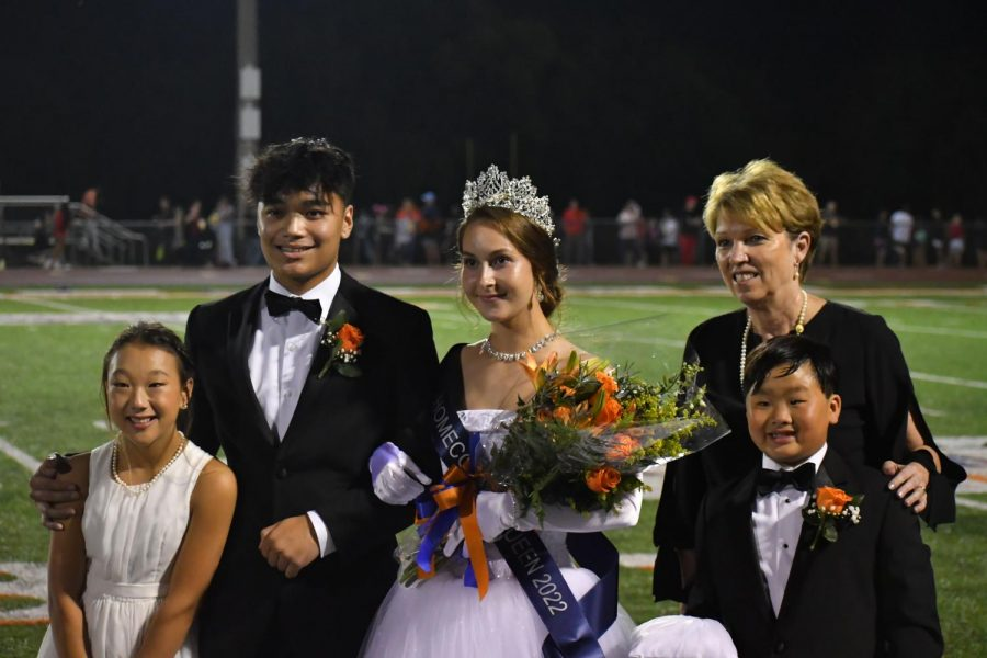 Audrey Burks is crowned as the 2021 Homecoming Queen.