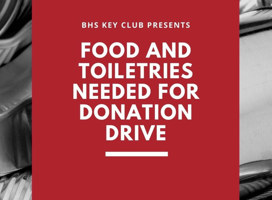 Red Gray Boxes Canned Goods Food Drive Flyer
